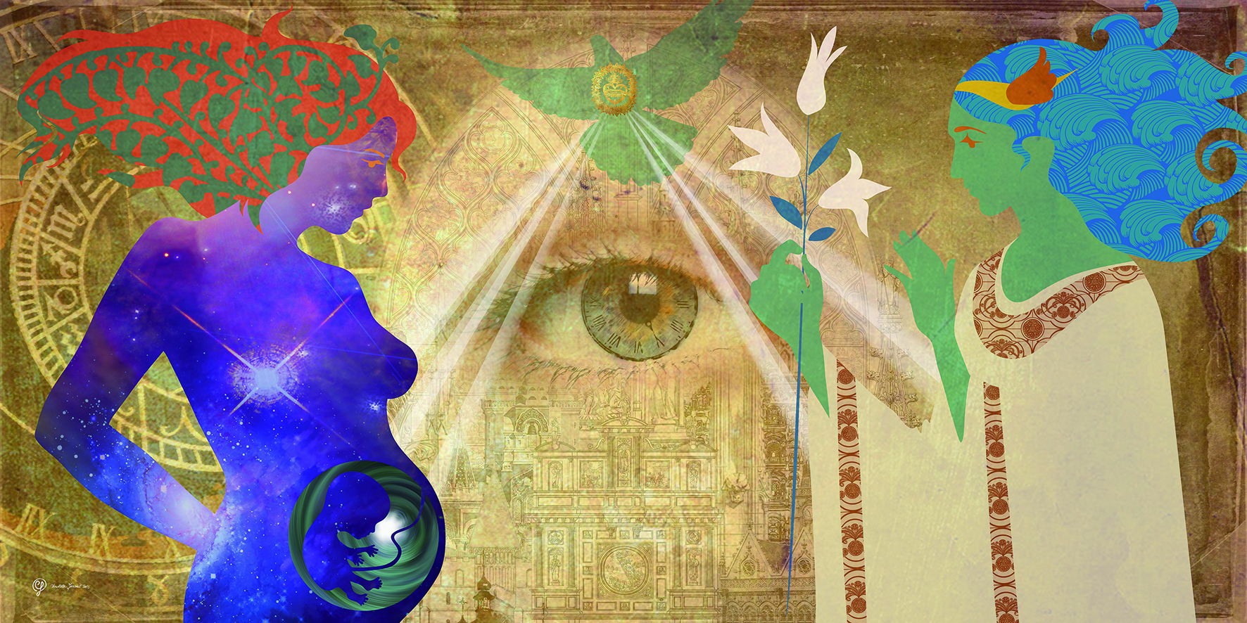 Annonciation ou Vierge du cosmos